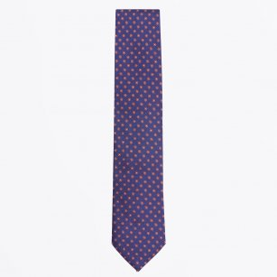 | The Orange Silk Woven Contrast Tail Tie
