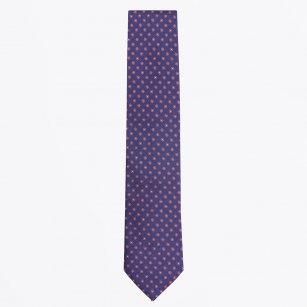 | The Orange Silk Woven Contrast Tail Tie