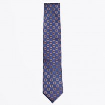 - The Silk Woven Tie - Navy
