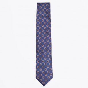 | The Silk Woven Tie - Navy