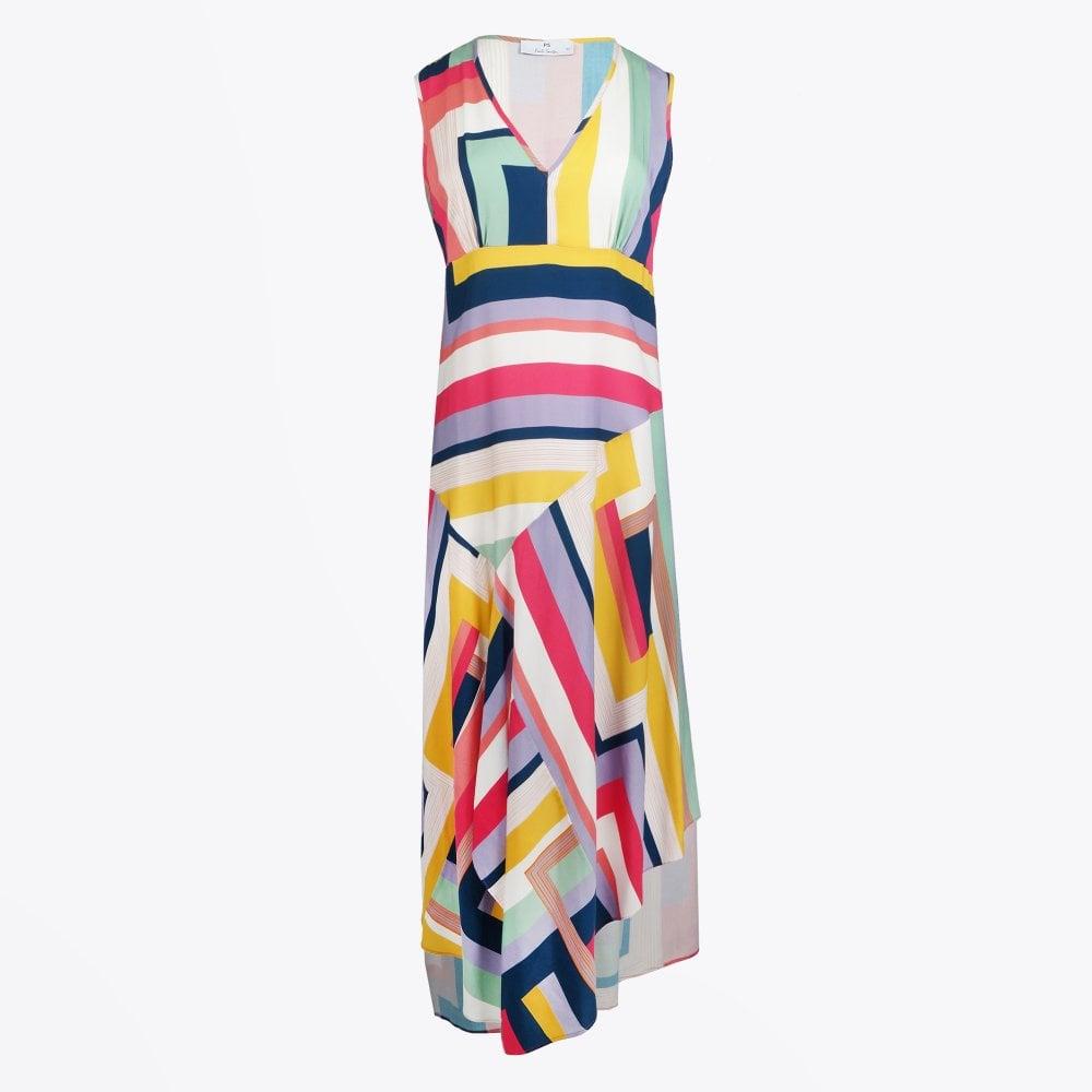 9256d911d9 PS Paul Smith - Asymmetrical 'Rainbow Stripe' Dress - Mr & Mrs Stitch