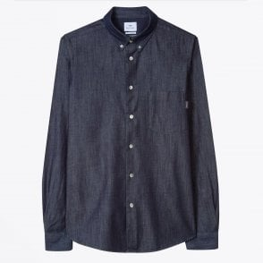 - Chambray Tailored Shirt -  Dark Navy