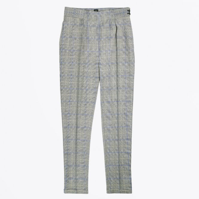 PS Paul Smith - Checked Wool Trousers - Grey Check