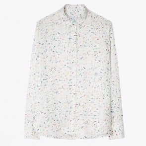 - Cotton 'Crayon Scribble' Shirt - White