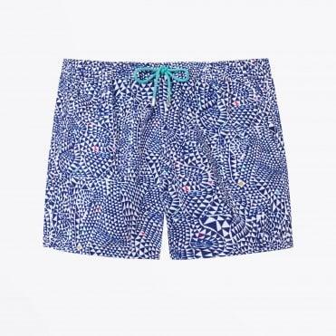 bf080f715a Diamond Wave Print Swim Shorts - Blue · PS Paul Smith ...