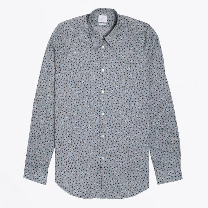PS Paul Smith - Ditsy Floral Printed Shirt - Blue