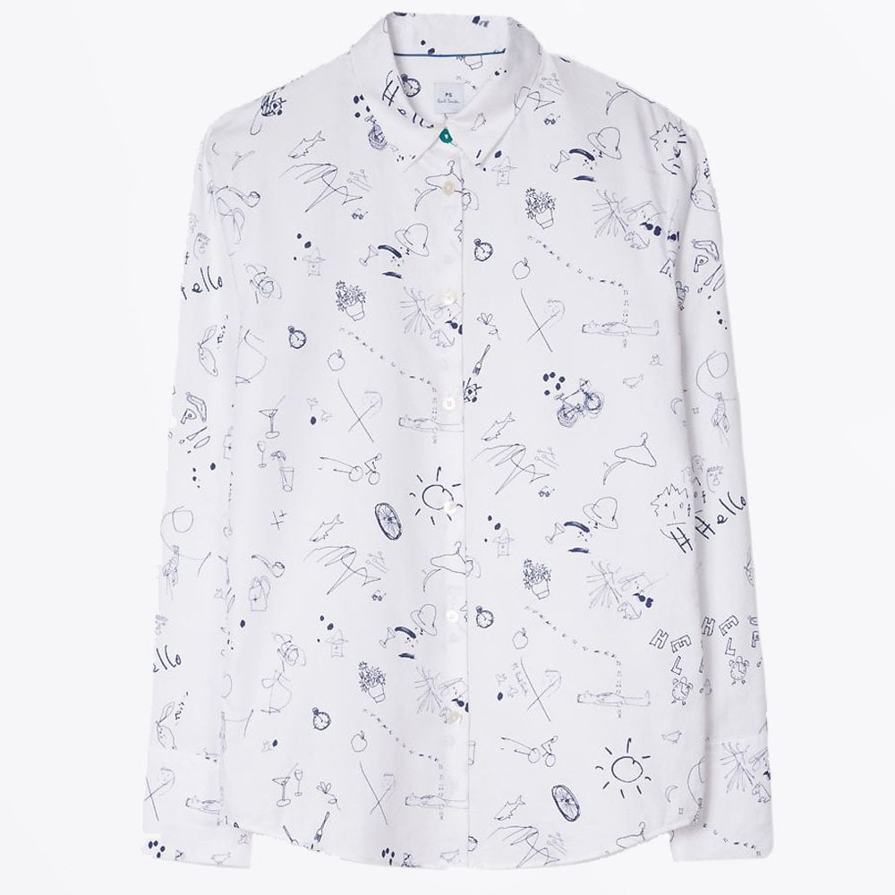 b2f63055a8 Paul Smith - Doodle Print Shirt - White - Mr & Mrs Stitch