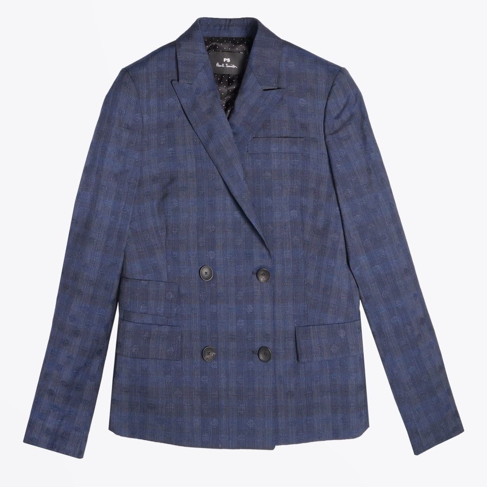 114a16bf405 PS Paul Smith - Double Breasted Wool Blazer - Navy - Mr & Mrs Stitch