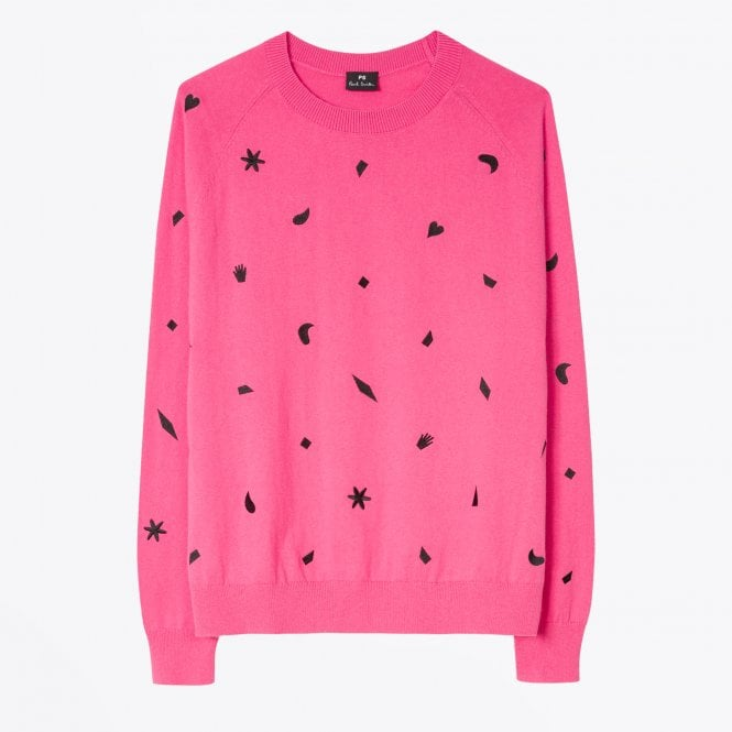 PS Paul Smith - Embroidered Knitted Sweater - Pink