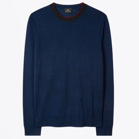 PS Paul Smith - Marl Merino Wool Sweater - Navy