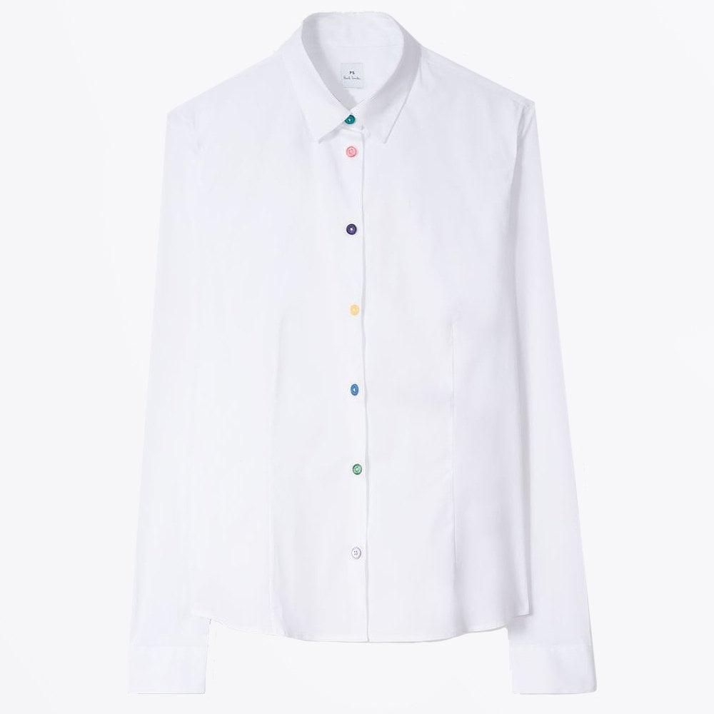 ad666f1075 Paul Smith - Multi Colour Button Shirt - White - Mr & Mrs Stitch