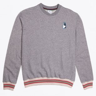 - Rabbit Embroidery Sweatshirt - Grey