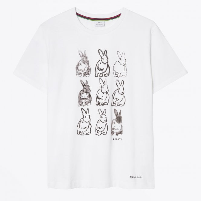 PS Paul Smith - Rabbit Print T-Shirt - White