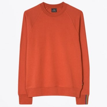 - Raglan Sleeve Sweatshirt - Burnt Orange