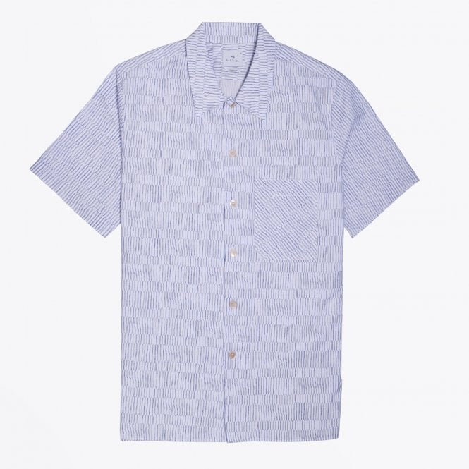 PS Paul Smith - 'Scramble Net' Print Short-Sleeve Shirt - White