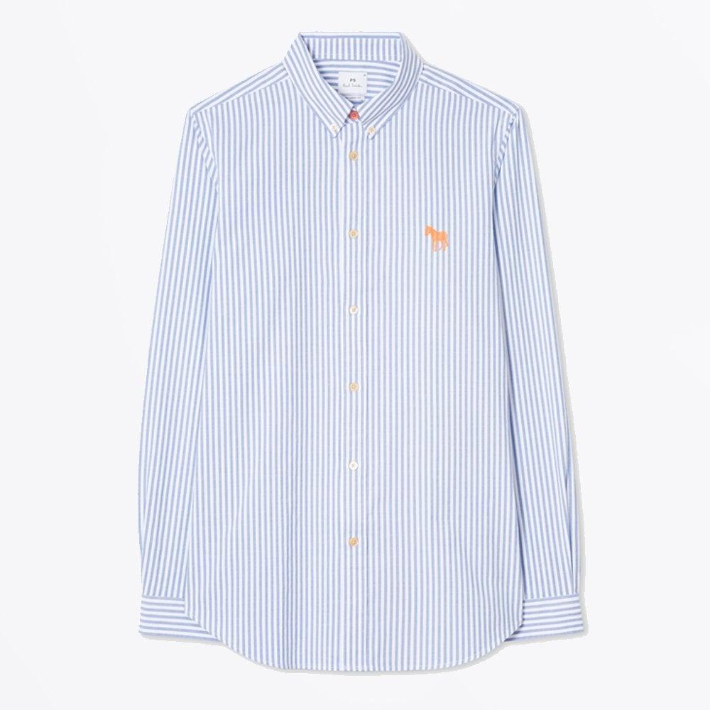 fbdb69b654 PS Paul Smith - Stripe Shirt - Turquoise - Mr & Mrs Stitch