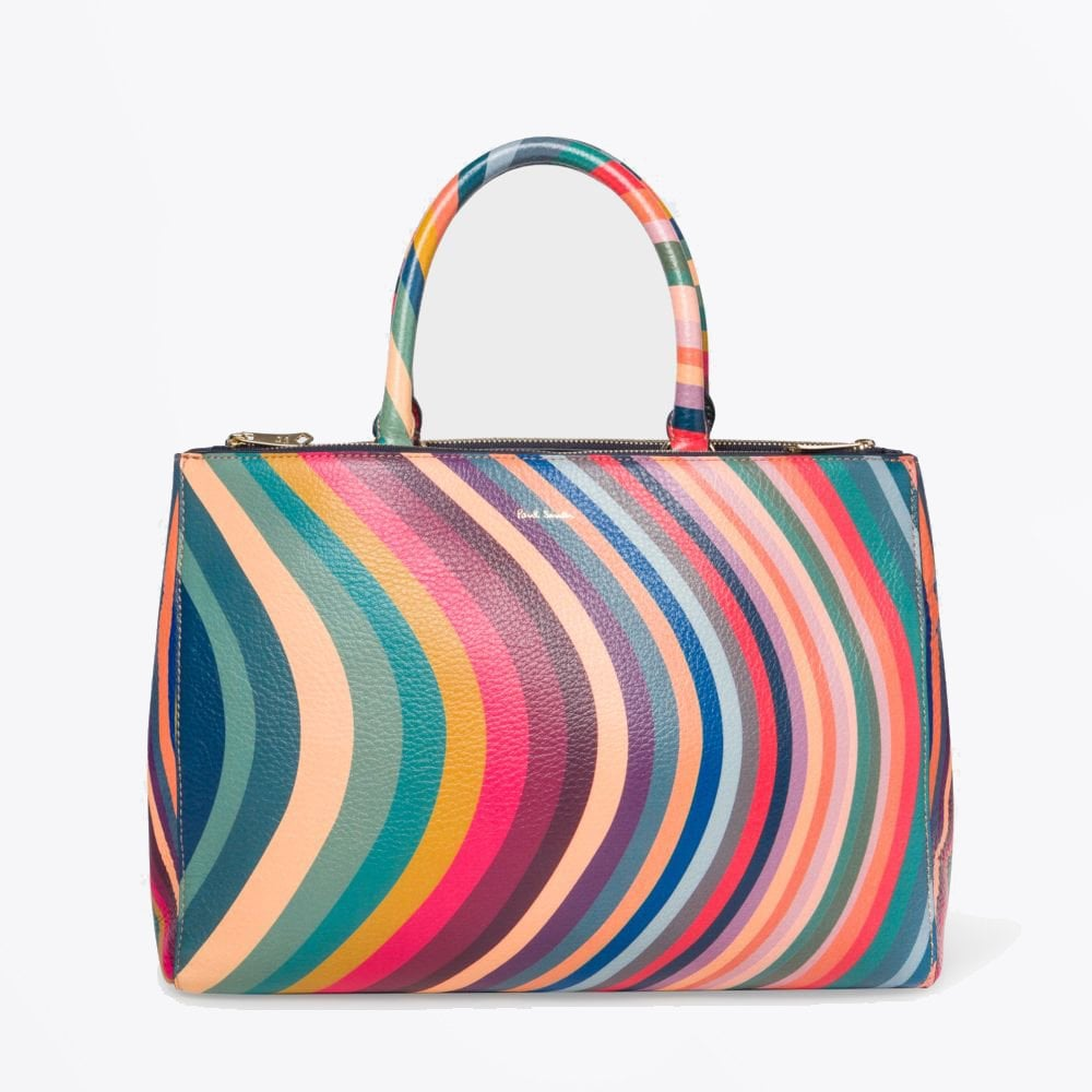 e7d102a98c91 PS Paul Smith - Swirl Print Leather Tote - Mr & Mrs Stitch
