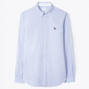 - Tailored Oxford Shirt - Light Blue