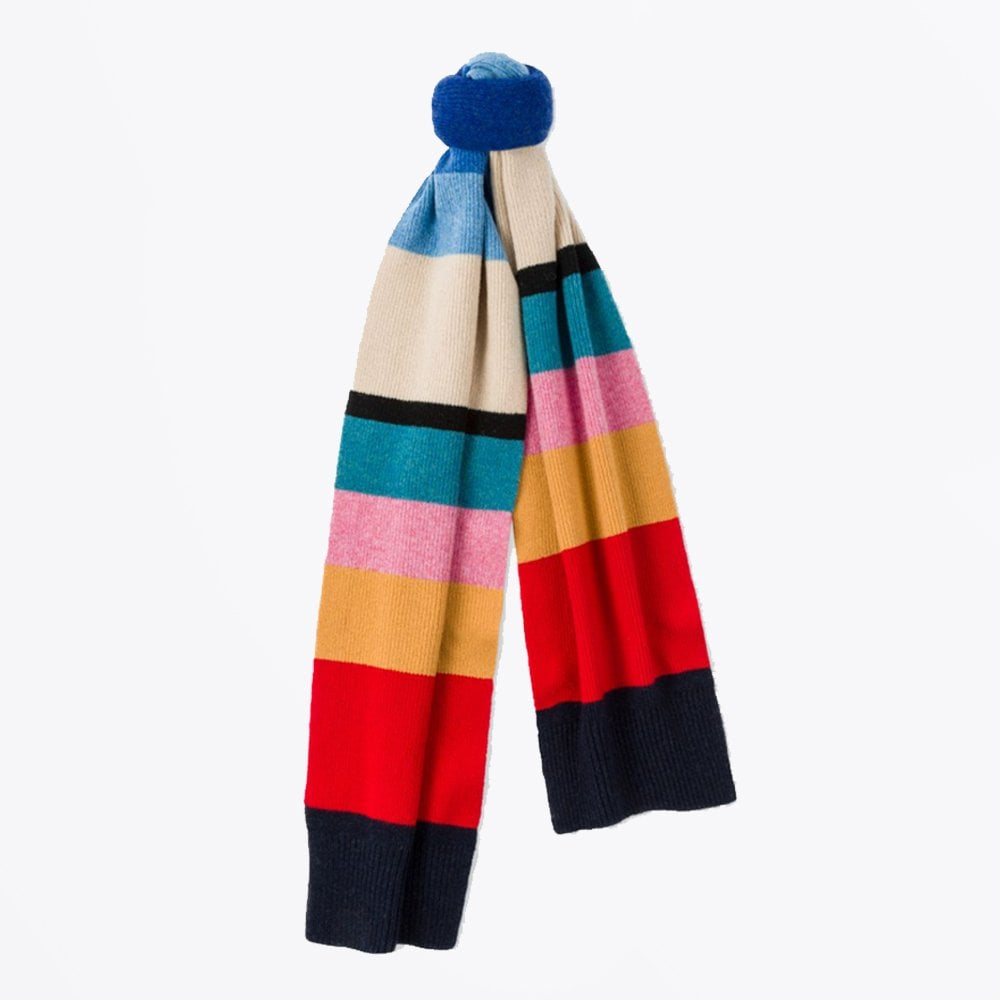 7868d30270 PS Paul Smith - Vintage Stripe Wool Knit Scarf - Mr & Mrs Stitch