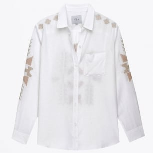 - Charli Tulum Embroidered Blouse - White