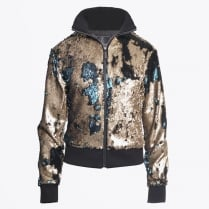 - Marry Sequin Bomber Jacket - Dark Green