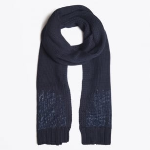 - Mily Embellished Scarf - Navy Blue