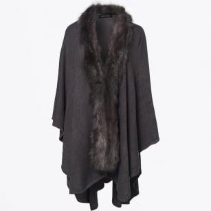   Scarf Days Faux Fur Cape - Anthracite