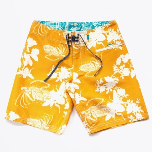 Riz - Blighty Block Bee Board Shorts - Mustard