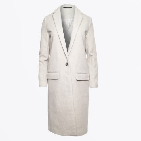 Samsoe & Samsoe - Cava One Button Long Jacket - Light Grey