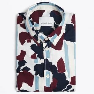 | Jay Camo Print Shirt - Wine Decor