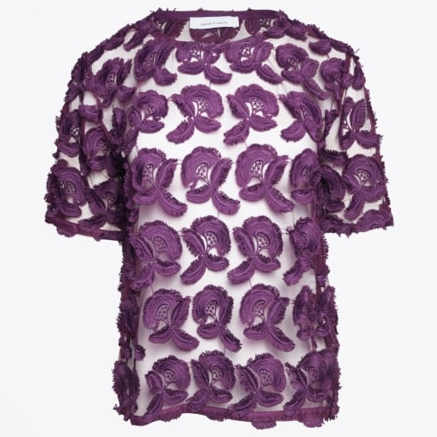 Samsoe & Samsoe - Mayer Short Sleeve Top - Potent Purple
