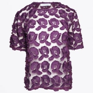 | Mayer Short Sleeve Top - Potent Purple