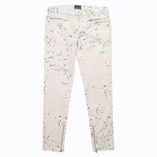   Blossom Satin Print Trousers - Blush