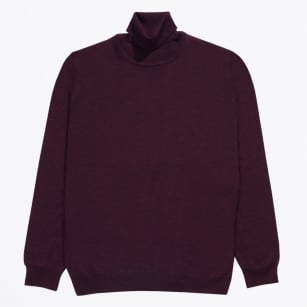 - Merino Polo Neck - Fig