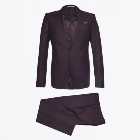 Sand - Sherman Brandon Mohair Suit - Burgundy
