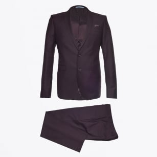 - Sherman Brandon Mohair Suit - Burgundy