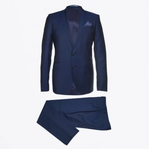 - Sherman Brandon Mohair Suit - Navy
