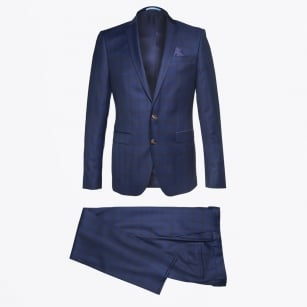 | Star Craig Check Suit - Navy