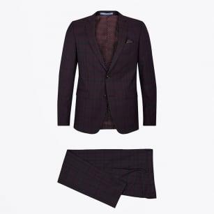 | Star Craig Check Two Piece Suit - Purple