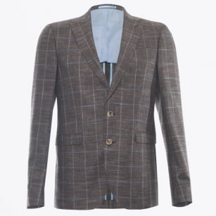 - Star Dandy Check Blazer - Brown