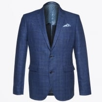 - Star Soft Check Blazer - Blue