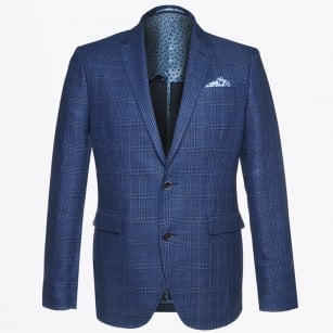 | Star Soft Check Blazer - Blue