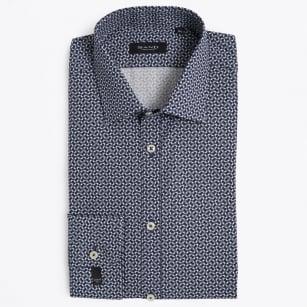 | State Geometric Print Shirt - Navy