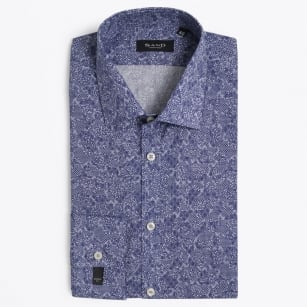 | State Micro Floral Shirt - Navy