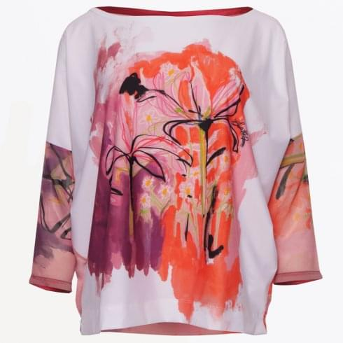 Save The Queen - Chiffon Sleeve Top - Red
