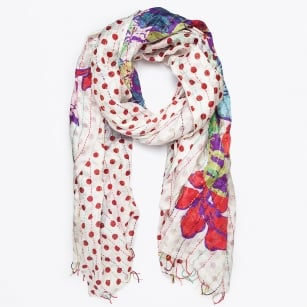   Dpt Print Scarf - Red