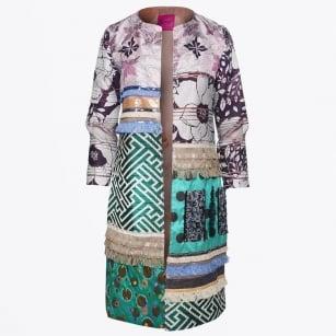 | Fringe Patch Sequins Coat - Multi