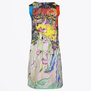   Sleeveless Shift Dress - Print