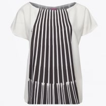 - Striped Top - Black/White