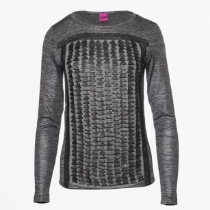   Triangle Shimmer Top - Silver